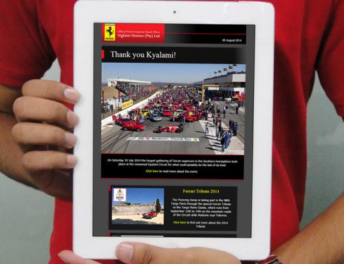 Ferrari Monthly Email Newsletter